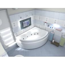 Ванна BAS ЛАГУНА 1700 x 1100 правосторонняя с гидромассажем FLAT ВГ00122(ванна + каркас + слив-перелив)