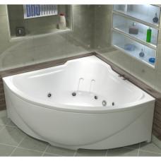 Акриловая ванна BAS ИРИС 1500х1500 с гидромассажным оборудованием FLAT ВГ00087(ванна + каркас + слив-перелив)