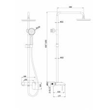 Душевая система Bravat Pure F6335369CP-A-RUS Хром