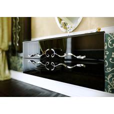 Комплект мебели Clarberg Due Amanti 100 черный/хром,Due.01.10/BLK/CR (раковина белая)