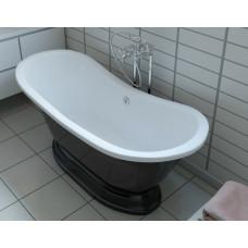 Ванна из литьевого мрамора Эстет Бостон 180 180x74 на подиуме ФР-00001046
