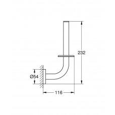 Держатель для запасного рулона туалетной бумаги GROHE Essentials, хром (40385001)