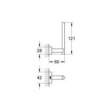 Держатель для запасного рулона туалетной бумаги GROHE Essentials Cube, хром (40623001)