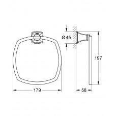 Кольцо для полотенца GROHE Grandera, хром/золото (40630IG0)