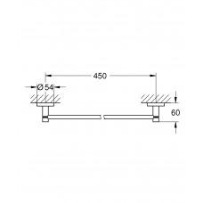 Держатель для банного полотенца GROHE Essentials, 500 мм, суперсталь (40688DC1)
