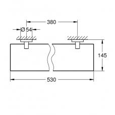 Полочка стеклянная GROHE Essentials 530 мм, хром (40799001)