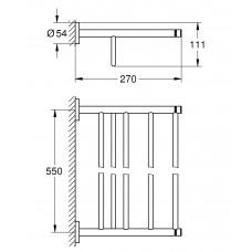 Держатель для банного полотенца GROHE Essentials, хром (40800001)