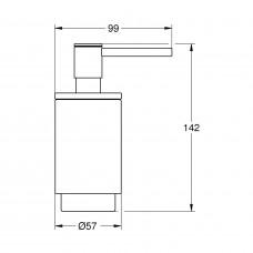 Дозатор жидкого мыла GROHE Selection, хром/прозрачный белый (41028000)