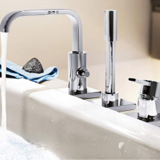 Внешняя часть смесителя для ванны GROHE Allure на 3 отверстия, хром (19316000)