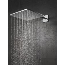 Верхний душ GROHE Rainshower 310 SmartActive Cube с душевым кронштейном 430 мм, 2 режима струи, хром (26479000)