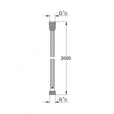 Душевой шланг GROHE Relexa металлический, 2000 мм, хром (28140000)