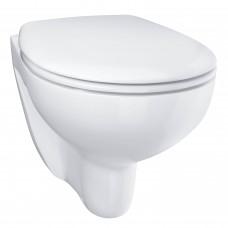 Унитаз подвесной безободковый GROHE Bau Ceramic с сиденьем (с микролифтом), альпин-белый (39351000)