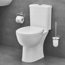 Унитаз напольный безободковый GROHE Bau Ceramic, вертикальный выпуск (без бачка и сиденья), альпин-белый (39429000)
