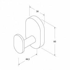 Крючок одинарный, латунь, Mirro Plus, IDDIS, MRPSB10i41
