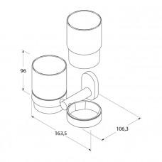 Подстаканник двойной, керамика, латунь, Mirro Plus, IDDIS, MRPSBC2i45