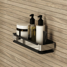 Полка для ванной IDDIS (без коллекции) черная, SHE13SBi44