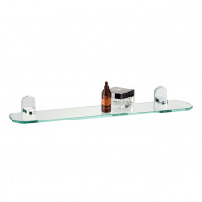 Полка, прозрачное стекло, латунь, Mirro Plus, IDDIS, MRPSBG0i44