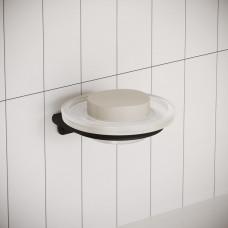Мыльница для ванной комнаты IDDIS NOA черного цвета,