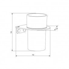 Подстаканник  для ванной комнаты IDDIS NOA белый, NOAWTG0i45