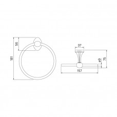 Полотенцедержатель, кольцо, сплав металлов, Male, IDDIS, MALSSO0i51