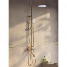 Смеситель для ванны с верхним душем, золото/белый, Cloud, IDDIS, CLOWG00i06