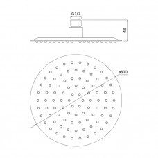 Душевая насадка верхняя круглая, IDDIS, 00430RSi64