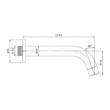Настенный излив для ванны, IDDIS, 001SB00i63