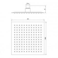 Душевая насадка верхняя квадратная, IDDIS, 00630SSi64
