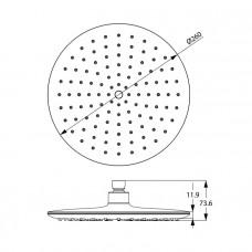 Душевая насадка верхняя круглая, IDDIS, 200SWRPi64