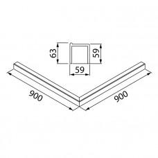 Декоративный профиль под душевое ограждение, черный, Slide, IDDIS, SLI5BS0i22
