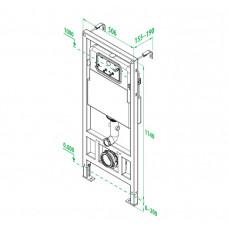 Инсталляция рамная для подвесного унитаза, Neofix, IDDIS, NEO0000I32
