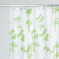 Штора для ванной комнаты, 200*200 см, полиэстер, bamboo leaf,  IDDIS, SCID010P