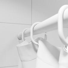 Набор колец для шторы в ванную комнату, White, RID011P, IDDIS