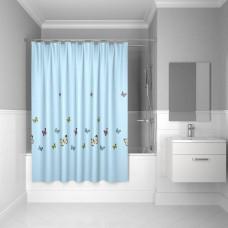 Штора для ванной комнаты, 200*200 см, полиэстер, blue butterfly, IDDIS, SCID031P