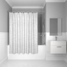 Штора для ванной комнаты, 200*180 см, полиэстер, Silver Gauze , IDDIS, 341P20RI11