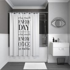 Штора для ванной комнаты, 200*180см, полиэстер, B06P218i11, IDDIS