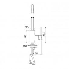 Смеситель для кухни IDDIS ACROS глянцевый хром, латунь, ACRSB00i05