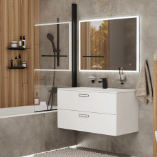 Смеситель для ванны, черный матовый, Bild, IDDIS, BILBL00i02WA