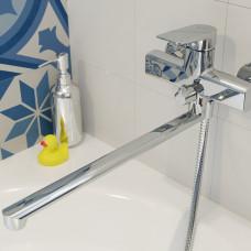 Смеситель для ванны с длинным изливом, Bridge, IDDIS, BRDSB02i10WA