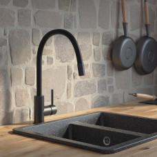 Смеситель для кухни IDDIS KITCHEN 360, черный матовый, K36BLJ0i05