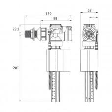 Клапан впускной, боковой подвод, IDDIS, F012400-0006
