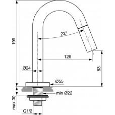 Смеситель для раковины Ideal Standard IDEALSTREAM F2842XG, черный матовый