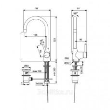 Смеситель для раковины Ideal Standard Ceraline BC195AA (с донным клапаном) (хром)
