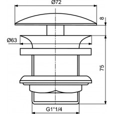 Донный клапан Ideal Standard  J3291XG, черный матовый