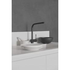 Смеситель для кухни Ideal Standard CERALOOK BC174XG с высоким трубчатым поворотным изливом, черный матовый