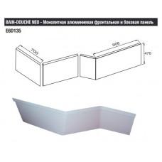 E6D135-00 панель BAIN-DOUCHE NEO алюминиевая (бел)