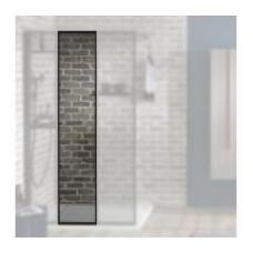 Душевое ограждение Jacob Delafon Nouvelle Vague средний модуль /40х200/(прозрачное стекло,черный профиль)E94WI40-B1