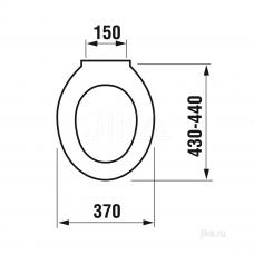 Крышка для чаши Jika Dino 8.9337.0.300.063.9