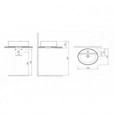 KALE SMARTEDGE Раковина овальная (40*50см.) МАТОВАЯ, 310200200006