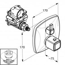 Термостатический смеситель для душа встройка Kludi Q-Beo 508350542 (наружняя часть)